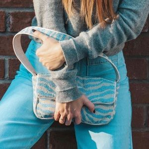 STAUD beaded zebra bag (as seen on Kendall Jenner)